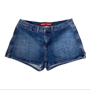Vintage Guess high waist denim shorts sz 34.